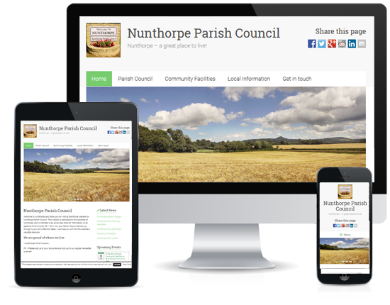 Web Design: Nunthorpe Parish Council